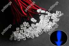 20P x 10mm blue Pre Wired LED 10mm blue wired Bulbs Light 12V 20cm (Water clear)