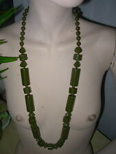 LOVELY NECKLACE WITH GREEN BEADS COSTUME JEWELLERY