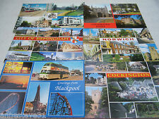 6 DIFFERENT POSTALLY USED POSTCARDS FROM GB 'TOWNS & VILLAGES'