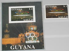 Guyana 1989 2497 Block 48 Olympics 1992 Barcelona NH