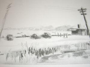 Gulf Beach, Milford,CT;6/18/47 Sketch by James Tabor,(1/150) Litho Ltd Ed Print