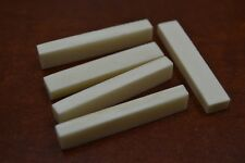 "10 PCS GUITAR BUFFALO BONE SADDLE BLANKS 2"" x 3/8"" x 6mm #T-659"
