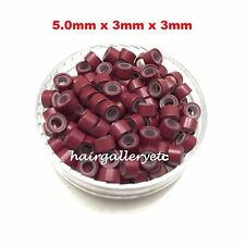Silicone Lined Micro Rings Crimp Beads for Feather Hair I Tip Extension HOOK USA