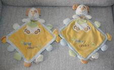 BABYNAT BABY NAT 2 DOUDOU CHIEN PLAT SUPER DOUDOU GRELOT CRAK JAUNE VERT KOM9