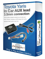 Toyota Yaris AUX lead, iPod iPhone MP3 player, Toyota Auxiliary adaptor kit