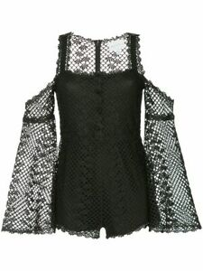NWT Alice McCall Size 10 Black 'Follow Me' Playsuit RRP $360