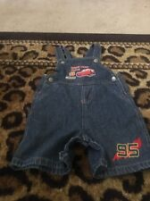 Car's Baby Toddler Boy's Blue Denim Bib Overalls Coveralls Sz 18M Clothes