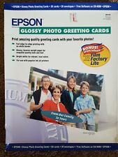 Epson S041267 Glossy Photo Greeting Card Paper 20 Cards + Envelopes  SEALED
