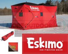 36150 New Eskimo Fully Insulated 2 Door Quickfish 6i Huge Family Ice Fishing