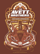 The Avett Brothers 6/27/15 Poster Whitewater Amp New Braunfels TX Numbered #/200