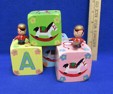Alphabet Blocks Music Box Enesco Painted Toy Soldiers Knick Knack Paddy Wack