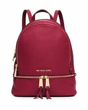 New Michael Kors Women's Cherry XS Rhea Zip Leather Backpack 30S5GEZB8L $258