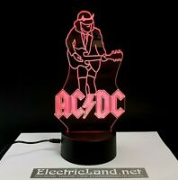 Angus Young ac/dc lampada luce notturna Led 3D Acrylic Night Light Lamp 7 acdc