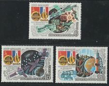 Space Programme coopération avec France 3 MNH Timbres 1982 Russie #5059-61 FLAGS