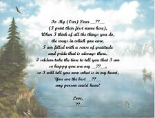 Mountain Deer Personalized Poem Gift  Fathers Day,Mothers Day,Christmas,Birthday