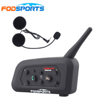 BT V6 1200M Bluetooth Motorcycle Helmet Interphone Intercom Headset 6 Riders US