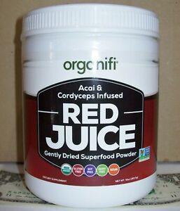 organifi RED JUICE Dried Superfood Powder 10oz 283.5g Acai Cordyceps Drink Mix