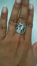Beautiful vtg.signed  CiNi baroque the lovers sterling 925 ornate ring size 8
