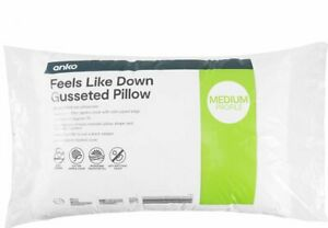 Feels Like Down Gusseted Pillow - White