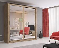 Brand New Modern Bedroom Mirror Sliding Door Wardrobe ARTI 8 203cm Shetland Oak
