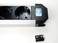 6-fache ALU Leiste Steckdosenleiste Netzleiste mit IEC Kaltgerätestecker
