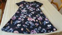 Wallflower NWT Womans junior dress Medium - black - floral - new $20.00
