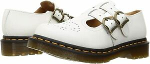 Women's Shoes Dr. Martens 8065 Leather Mary Jane 26563100 WHITE SMOOTH