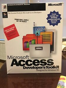 Authentic Microsoft Access Windows 95 7.0 DBMS Developers Toolkit. NFR.