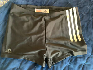Adidas Boys Lycra Black Swim Trunks Shorts - Age 13-14