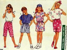 GIRL'S TOP SHORT PANT SKIRT Easy Sew Pattern 1yd Fashions Butterick 6365 SZ12-14
