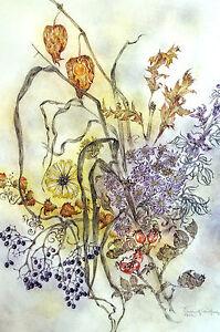 Sulamith Wulfing SUMMER SPRING FLOWERS Botanical 2006 Calendar Art Print Matted