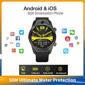S08  4G LTE GPS 1.69inch IPS Screen MT6739 Quad-core Processor  Smartwatch