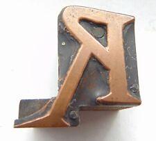 Printing Letterpress Printers Block Letter R