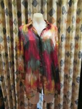 womens MAGGIE-T dressy or work style blouse top SZ 16 100% silk