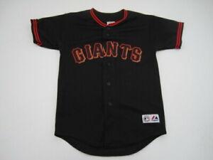 Youth Boys Medium San Fancisco Giants Majestic black stitched jersey