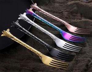 Giraffe Cake Fork Kids Colourful Cutlery Cute Novelty Animal Forks