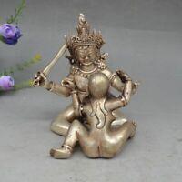 Tibet Buddhism Bronze Copper Vajra Mandkesvara Yab-Yum Happy Buddha Statue