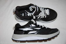 Mens Running Shoes AVIA LASER Athletic Sneakers BLACK White LEATHER Mesh 7.5