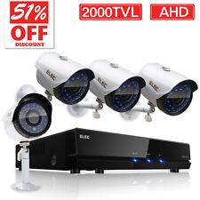 ELEC 8CH 1080N 2000TVL AHD DVR Outdoor IR-Cut CCTV Home Security Camera System