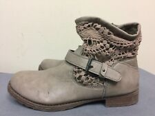 Charlotte Russe vintage Style Knitted Ankle taupe Boots man made materials  SZ 8