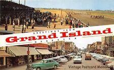 GRAND ISLAND NE 1953 Split View of Fonner Park & Downtown Business District GEM+