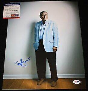 Tony Bennett signed 11 x 14, San Francisco, Rags to Riches, Proof,PSA/DNA Z35952