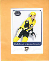 2001 02 FLEER GREATS OF THE GAME MARIO LEMIEUX #81 PITTSBURGH PENGUINS