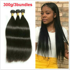 "18""*3 Double Drawn Straight Human Hair Extensions 3Bundles 300G"