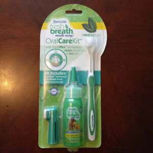 Fresh Breath by TropiClean Advanced Whitening Oral Care Kit for Dogs, Med-Large,