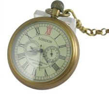 Chain Mechanical Pocket Watch Hand Winding Old Copper Luxury Mens Vintage Watch