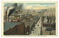 Butte Montana Park Bird's Eye Street View Horse Buggies Factory Vintage Postcard