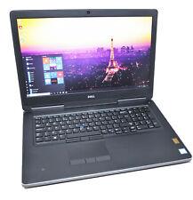 """Dell Precision 7710 17.3"""" 4K CAD Laptop: 16GB RAM, Core i7-6820HQ, 256GB+1TB"""