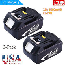 2xFor Makita BL1860 LXT Lithium-Ion Battery 6.0Ah BL1830 BL1850 BL1845 194205-3