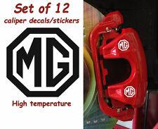MG Brake Caliper Decals Stickers MGB MGF MG ZR ZS ZT 550 350 MG 6 MG 5 MG 7  L